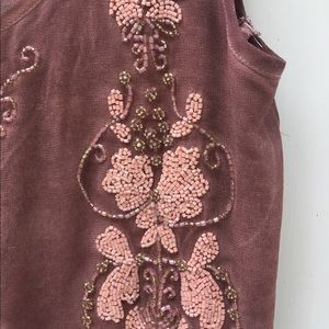 Forever 21 beaded princes waisted chiffon blouse
